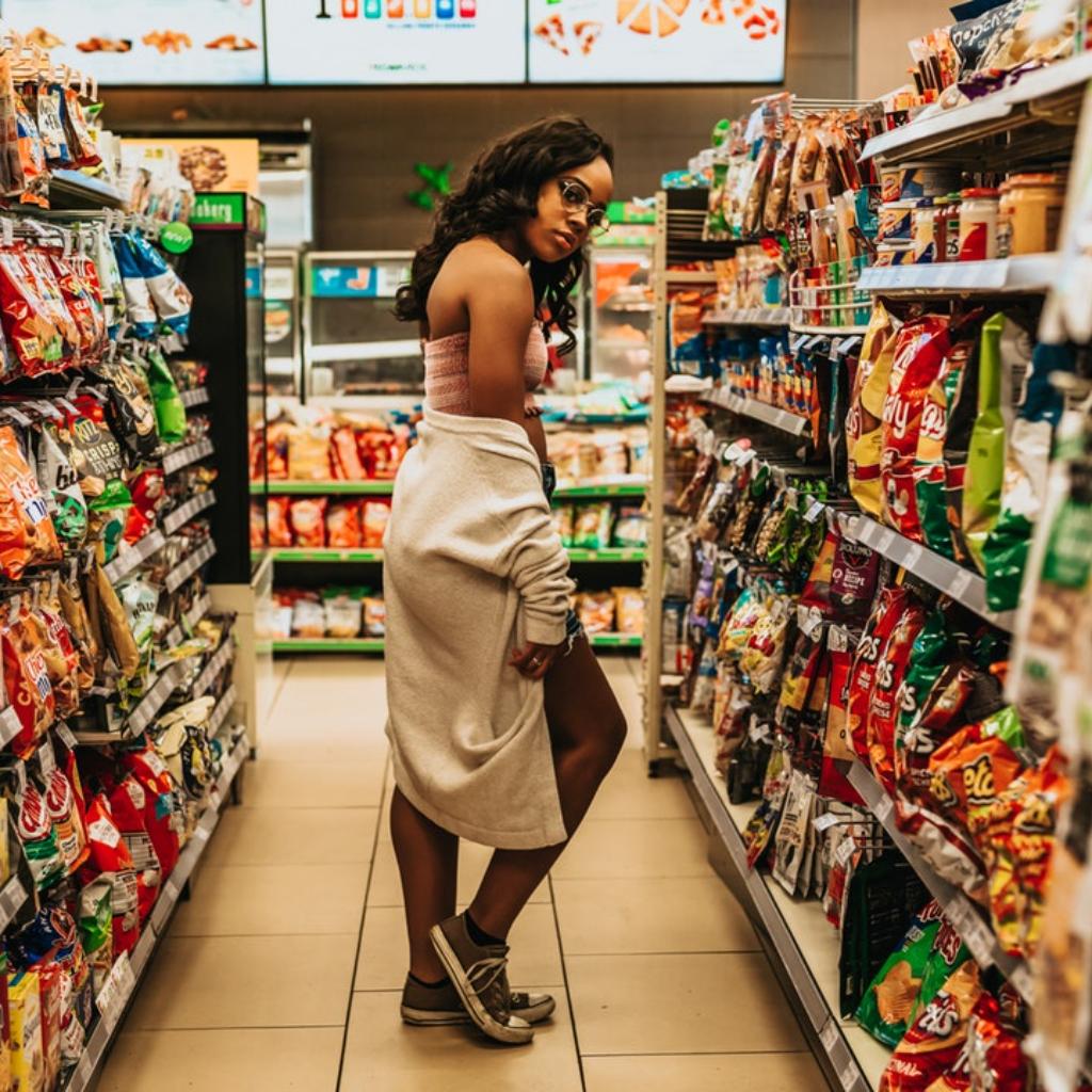 Einkaufen und Übergewicht