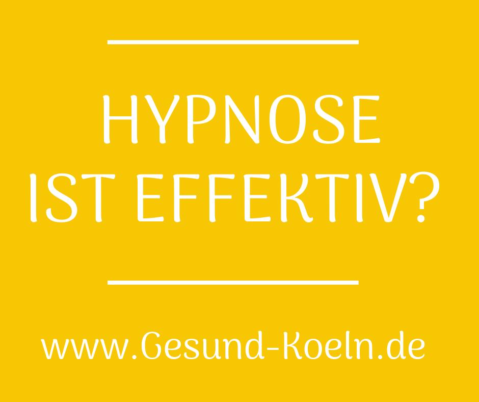 Hypnose ist effektiv